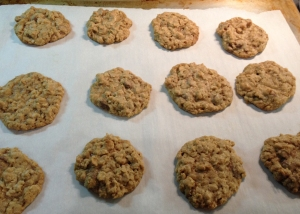 oatmeal on cookie sheet